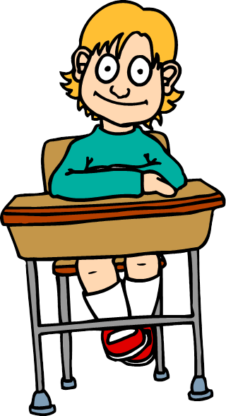 Description: D:\Clip Art\Education & Schools (Part 1)\Cartoons (Cr - I)\Girl at Desk 1.wmf